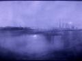 Vue du port en bleu