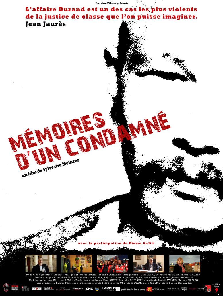 Affiche def MEMOIRES D'UN CONDAMNE 120 x 160W